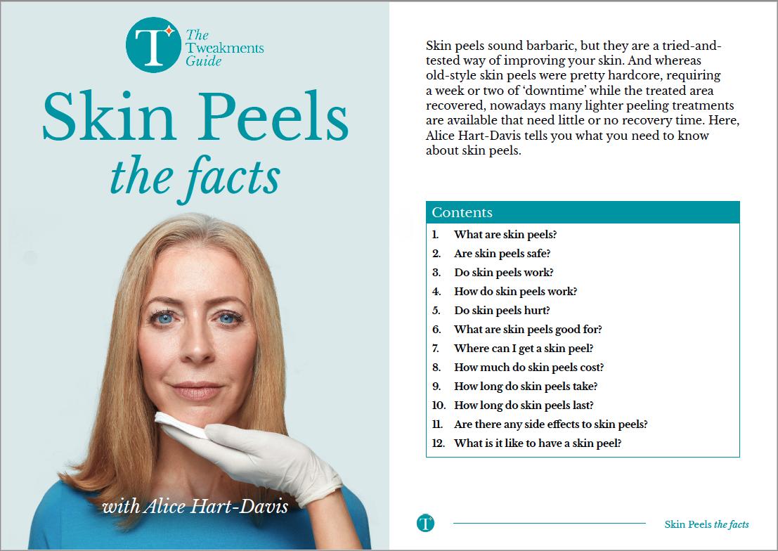 Skin Peels Factsheet Cover